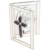 HJ Sherman, Confirmation Glass Photo Frame, Glass, Purple, 5 x 8 Inches
