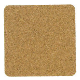 Natural Square Cork Coasters, 4 x 4 inches, 6 Count