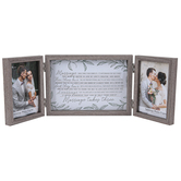 Dicksons, Marriage Takes Three Photo Frame, Holds 2 Photos 4 x 6 inches, 19 1/4 x 6 3/4 inches
