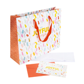 Christian Art Gifts, Always Joyful Large Gift Bag with Card, 12 1/2 x 10 Inches