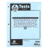 BJU Press, Heritage Studies 5 Tests Packet Answer Key, 4th Edition, Grade 5