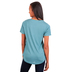 Southern Grace, Embroidered Leopard Cross, Women's Short Sleeve T-shirt, Sky Blue, Small