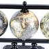 Globe Trio Décor, Wood, Multi-Colored, 8 5/8 x 13 7/8 x 3 3/4 Inches