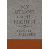 My Utmost for His Highest Updated, by Oswald Chambers, Leather-like, Brown