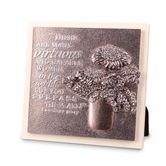 Lighthouse Christian Products, Proverbs 31:29 Virtuous Woman Table Plaque, 5 3/4 x 5 3/4 inches