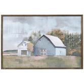 Watercolor Barnyard Wall Decor, MDF, Pastel, 24 x 36 x 1 3/8 Inches