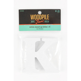Woodpile Fun, Stand Alone Wood Letter - K, 3 inches, White