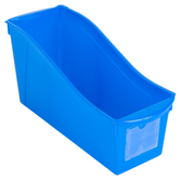 Storex, Large Book Bin, Blue, 14.30 x 5.30 x 7 Inches, 1 Piece