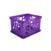 Storex, Premium File Storage Crate, Purple, 17.25 x 14.25 x 10.50 Inches, 1 Piece