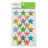 Renewing Minds, Multi-Patterned Stars Self-Adhesive Stickers, Multi-Colored, Pack of 100
