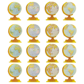 Teacher Created Resources, Travel the Map Globe Large Accents Cutouts, 6 Inches, 30 Pieces