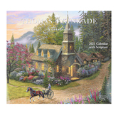 Thomas Kinkade Painter of Light with Scripture Deluxe 2021 Wall Calendar, Paper, 14 x 12 1/2 inches