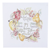 Renewing Faith, Galatians 5:22 Fruit Of The Spirit Wall Art, Canvas, 10 x 10 inches