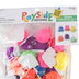 Playside Creations, Pom Pom Buddies, 1 3/8  x 1 3/8 Inches, Assorted Colors, 24 Count