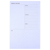 3M, Noted by Post-it, Daily Planner Pad, Blue, 5 x 7 3/4 inches