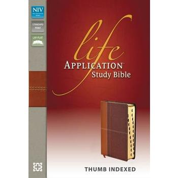NIV Life Application Study Bible, Duo-Tone, Thumb Indexed, Multiple Colors Available