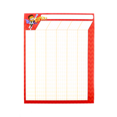 Superheroes Collection, Classroom Incentive Chart, 17 x 22 Inches, Red Chevron, 1 Each