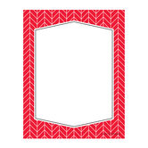 Isabella Collection, Rectangle Notepad, 6.25 x 8 Inches, Red and White Herringbone, 50 Sheets