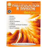 Carson-Dellosa, Multiplication and Division Quick Starts Workbook, 64 Pages, Grades 4 and up