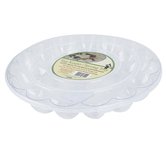 Innovative Designs, Clear Plastic Egg Serving Tray with Lid, Round, 12.13 D x 2.19 Inches, 1 Each
