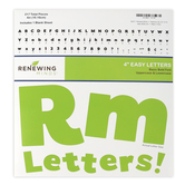 Renewing Minds, Green Bulletin Board Letters, Upper and Lowercase, 4 Inches, Green, 217 Pieces