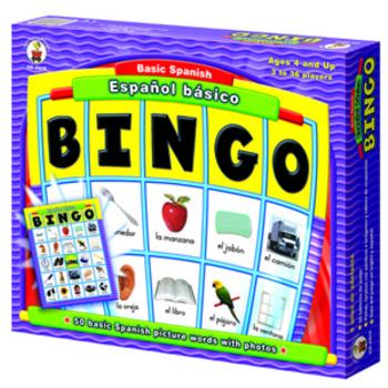 Carson Dellosa, Español básico Basic Spanish: BINGO, Ages 4 to 7, 3 to 36 Players