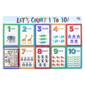 The Brainery, Let's Count 1-10 Learning Mat, Plastic, 11 1/2 x 17 1/2 Inches, Ages 4 and up