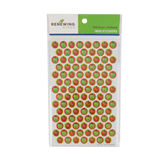 Renewing Minds, Smiley Apples Mini Incentive Stickers, Red and Green, Pack of 1050
