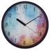 Retro Chic Collection, Decorative Wall Clock, Multi-Colored, Round, 11.50 Inch Diameter
