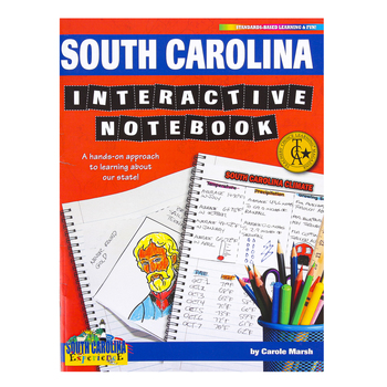 Gallopade, South Carolina Interactive Notebook: A Hands-On Approach, Paperback, 68 Pages, Grades 3-5