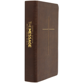 MSG The Message Devotional Bible, Imitation Leather, Brown