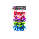 Brother Sister Design Studio, Star Glasses, 2 x 5 Inches, Assorted Colors, Pack of 10