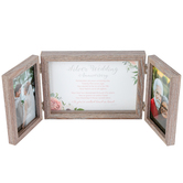 Dicksons, Silver Wedding Anniversary Fold Out Photo Frame, Holds 2 Photos 4 x 6 inches, MDF