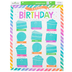 Renewing Minds, Customizable Happy Birthday Chart, Rainbow Stripes, 17 x 22 Inches, 1 Each
