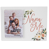 P. Graham Dunn, Nana and Me 2 x 3 Photo Frame, White and Pink, 5 x 3.75 x 0.38 Inches