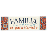 P. Graham Dunn, Family Is Forever Spanish Wood Block, Pine, 7 1/4 x 2 1/4 x 2 1/4 inches