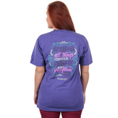 Cherished Girl, Phillipians 4:13 I Can Do All Things, Short Sleeve T-Shirt, Purple Heather, Medium