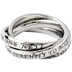 Spirit & Truth, Serenity Prayer, Triple Band Ring, Stainless Steel, Size 9