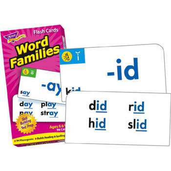 Trend, Word Families Flash Cards