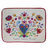 Natural Life, Thankful Grateful Blessed Drying Mat, Polyester, Cream, 20 x 15 Inches