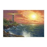 Lighthouse Lenticular Wall Decor, Wood, Multi-Color, 15 x 22 x 3/4 inches