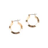 Howard's, Ear Sense, Knife Edge Hinged Hoop Earrings, 24K Gold Over Surgical Steel