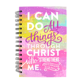 SoulScripts, I Can Do All Things, Spiral-Bound Hardcover, Pastels, 5 1/4 x 8 inches, 160 pages