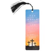 Salt & Light, For God So Loved The World Tassel Bookmark, 2 1/4 x 7 inches