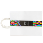 Large Kraft Gift Bags, White, 4 1/2 x 10 x 13 Inches, 5 Count