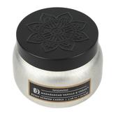 Darsee & David's, Madagascar Vanilla & Cedar Candle Tin, Silver and Black, 3.98 ounces