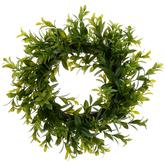 Bella Vita, Greenery Wreath, Plastic, Green, 12 Inches