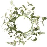 Bella Vita, Cream Berry Wreath, Plastic, Green, 13 Inches