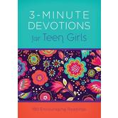 3-Minute Devotions for Teen Girls: 180 Encouraging Readings, by April Frazier