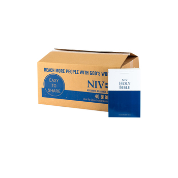 NIV Economy Outreach Bible, Case of 40